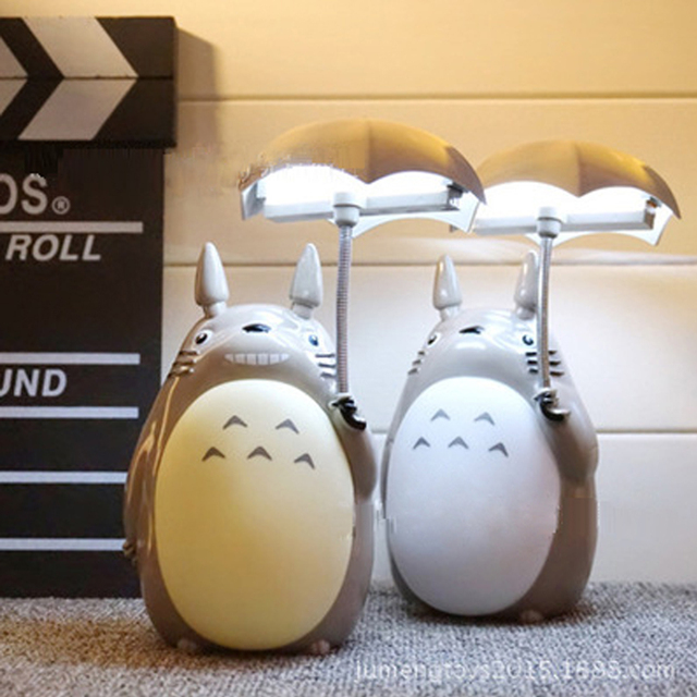 Novelty Cartoon Totoro Lamp Kawaii Led Night Light USB Charge ...