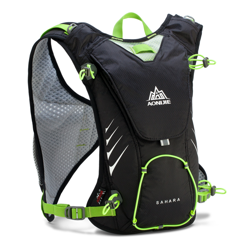 AONIJIE Męskie Lekkie buty do biegania Plecak Outdoor Sports Turystyka Torba wyścigowa z opcjonalnym woreczkiem na wodę Hydration 1.5L