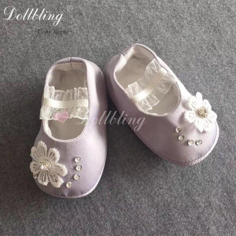 Lavande Suger tenue de noël Match Bling bébé chaussures victorienne Etsylush élégance baptême anniversaire Satin chaussures pour bébé