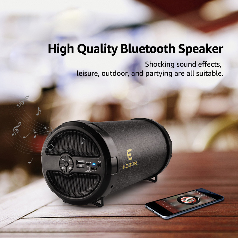 Portable Wireless Bluetooth Speaker Barrel Card Multi Function Large Bucket Outdoor Game Video Music Audio Bass