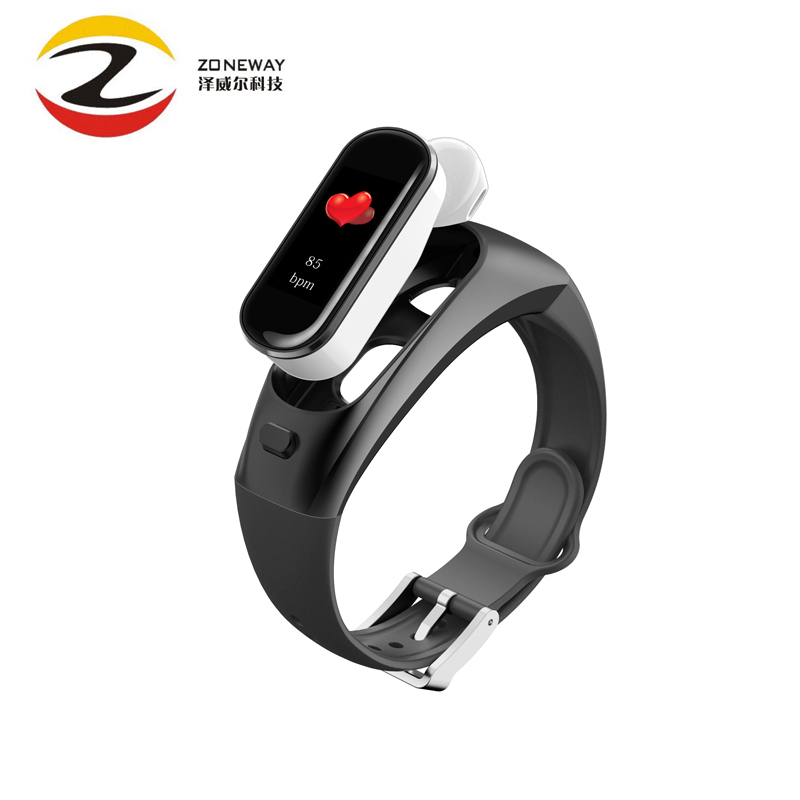 H109 Smart Band Your Health Steward Blood Pressure Measuring Fitness Tracker Color Screen Bluetooth Headset Talk Band PK V09S-in Smart Wristbands from Consumer Electronics    1