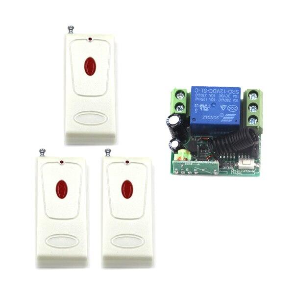 Puerta de Casa inteligente 12 V 10A 1 Canal de RF Interruptor de Control Remoto
