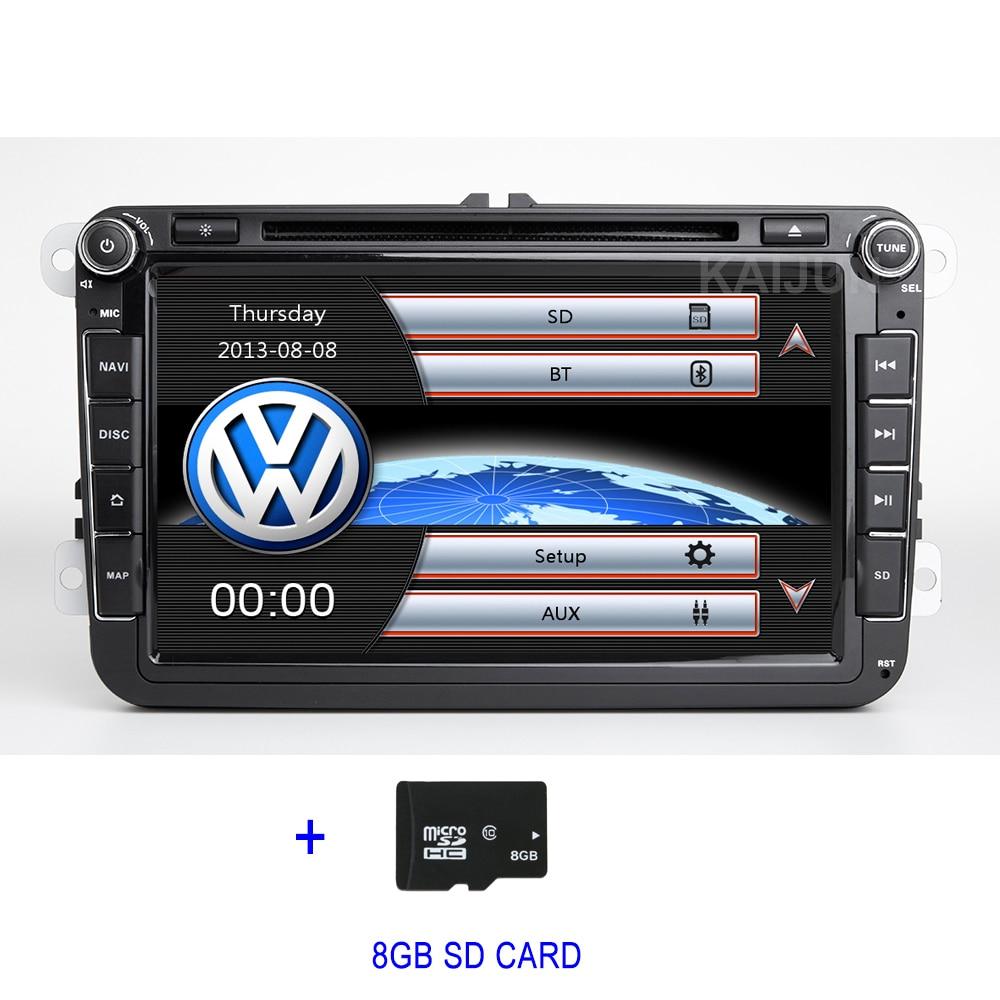 8 2 DIN Car DVD Player GPS Radio for VW PASSAT CC JettaGolf 5 6 Tiguan Touran Caddy EOS Sharan Amarok polo Leon Toledo bosion 2 din 8 inch quad core 4gb ram car dvd for vw passat cc polo golf 5 6 touran eos t5 sharan jetta tiguan gps radio bt