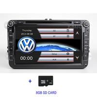 8 2 DIN Car DVD Player GPS Radio for VW PASSAT CC JettaGolf 5 6 Tiguan Touran Caddy EOS Sharan Amarok polo Leon Toledo