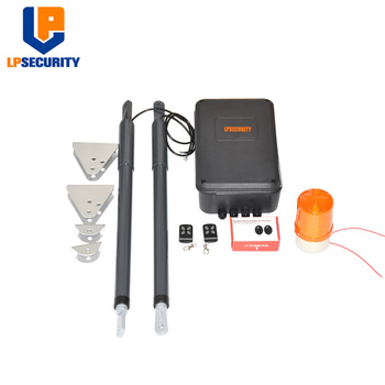 200kg 12VDC Automatic Electric Double Swing Gate Opener 2 Remote Control supporting backup battery solar system electronic automatic high quality dual arm 2m swing gate opener motor max weight 200kg with extra remote control available