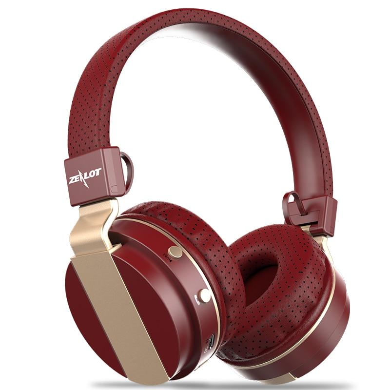 Noise Cancelling Zealot B17 Wireless Bluetooth Headset Headphones With Microphone TF Card FM Radio Foldable Earphones Foldable zealot b 560 stereo bluetooth v2 1 edr headphones w tf fm microphone black deep grey