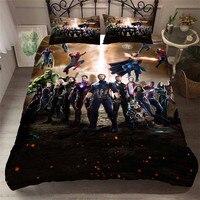 Helengili 3d 침구 세트 avengers 인쇄 duvet 커버 세트 bedcloth pillowcase 침대 세트 홈 섬유 #필름-04