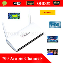 QHDTV Arabic IPTV Box 700 Arabic Channels Box Office HD Movies Sky French Android 4.4 WiFi HDMI Smart TV Box Remote Control Free