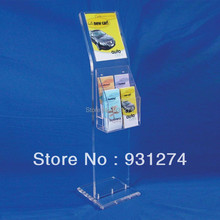 Floor Standing acrylic literature holder for lobby office Commercial catalogue shelf  Folding file magazine book rack furniture