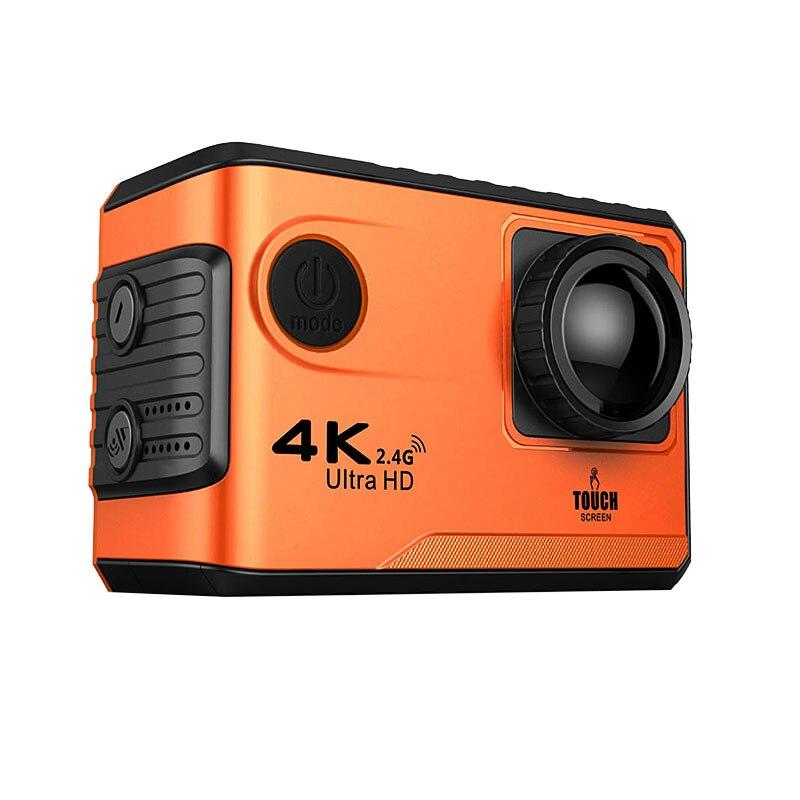 Unterhaltungselektronik 4 Karat/24fps Sport Action Kamera Wif Uhd 2 touchscreen 1080 P Video Kamera Wasserdichte Fernbedienung Action Kamera Außen Helm Cam AusgewäHltes Material Sport & Action-videokamera