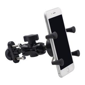 Image 3 - נייד 360 תואר Rotatable אלומיניום סגסוגת אופני E אופני אופנוע נייד טלפון תמיכה מחזיק