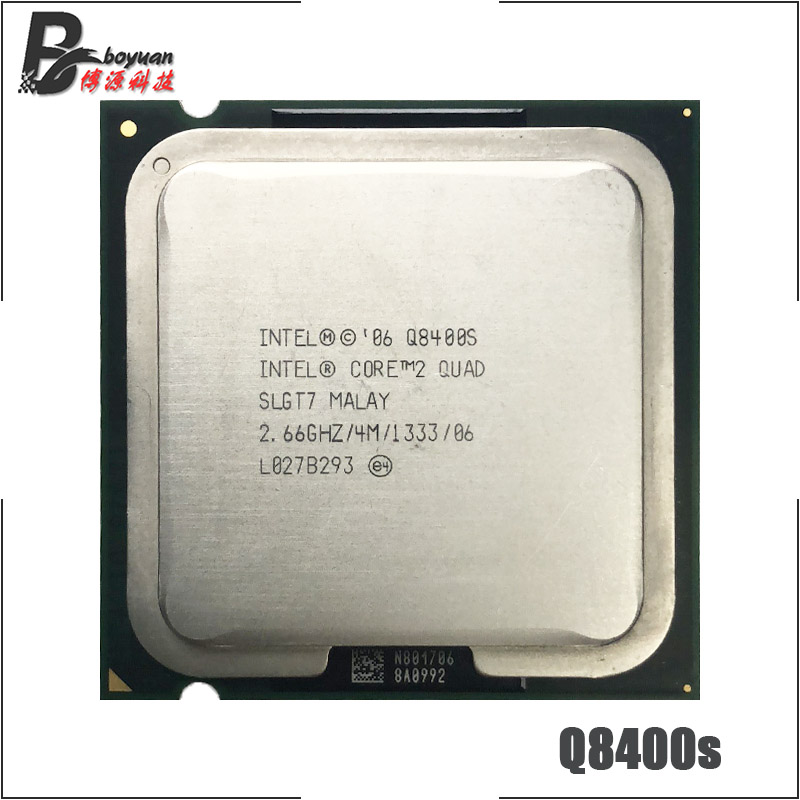 Intel Core 2 Quad Q8400S 2.66 GHz Quad-Core מעבד מעבד 4 M 65 W 1333 LGA 775 title=
