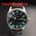 2016 new fashion Sapphire crystal 44mm PARNIS ST3600/ 6497 Mechanical Hand Wind  movement men's watch wholesale G0367B