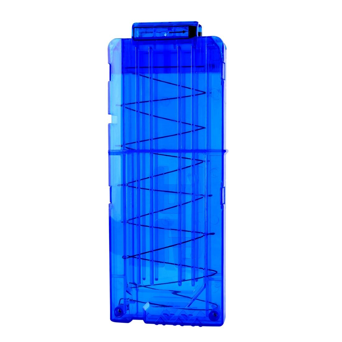 Hot Sale Surwish Soft Bullet Clips For Nerf Toy Gun 12 Bullets Ammo Cartridge Dart Transparent Blue