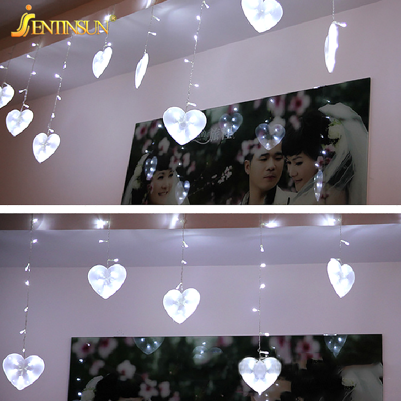 Unique 300 65cm New Wedding Decoration Heart shaped LED String Light 8 Modeling Lantern Romantic Indoor Lighting Love Fairy Lights in Lighting Strings from Lights Review - Contemporary indoor lighting Pictures