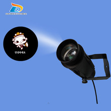 Hot Sale OUTDOOR Advertising Use 20W LED Rustproof Aluminum Alloy Gobo Image Sign Projector Light with Three Color Gobo Gobo