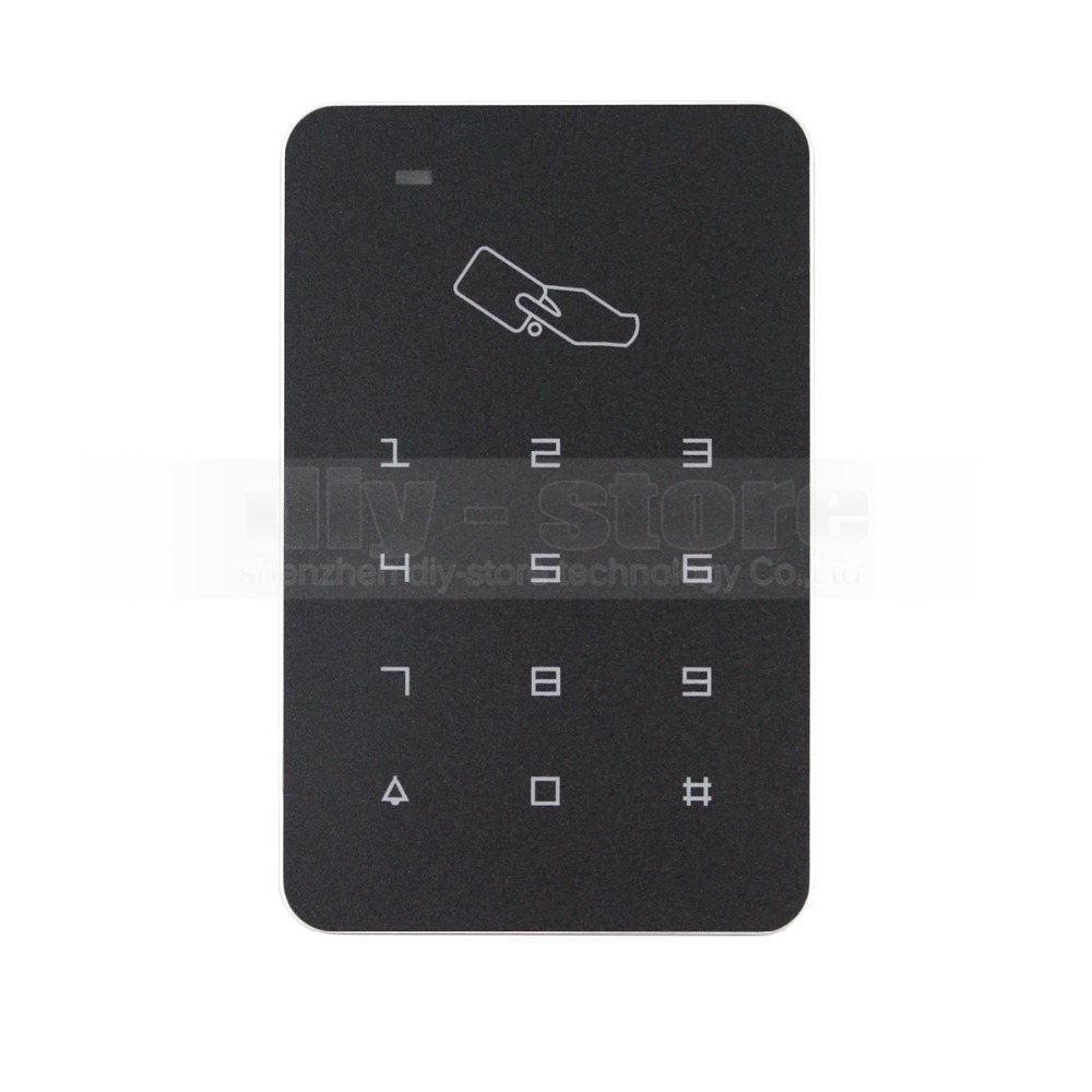 DIYSECUR 125KHz Password Keypad RFID Card Proximity Reader Access Controller + 10 Free Keyfob usb pos numeric keypad card reader white