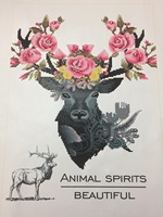 9192 Diamond Embroidery Triptych 5d Diy Round Partial Special Shaped Diamond Embroidery Deers Diamond Painting 3pcs