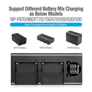 Image 5 - Bateria de câmera + carregador sony, 3200mah, NP F550 NP F330, np, f550, np f330, lcd, dual usb, para sony NP F550 NP 750 yongnuo luzes da câmera