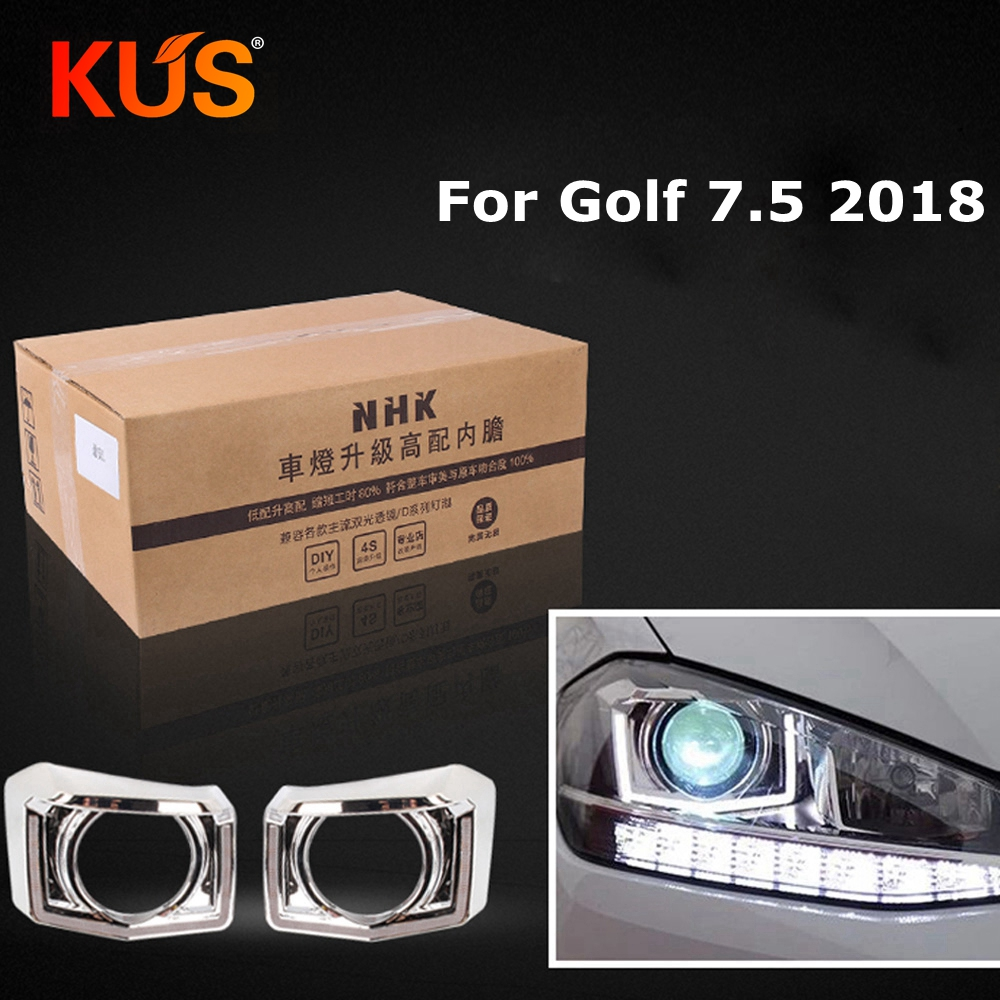 car headlight headlamp high liner lamp upgrade for golf 7.5 2018 without Damage HID Projector Lens q5 hella5 Car assembly