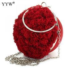 רוז פרחוני אדום ערב המפלגה תיק יוקרה נקבה מצמדי נשים מעצב מותג מפורסם תיק של גברת שקית מצמד שרשרת Bolsas