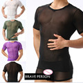 Lingerie Wholesale Undertakes Foreign Trade Brave Person White Gauze Short-sleeved T-shirt(not Include Boxers)