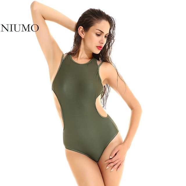 b5c98206ce Cheap NIUMO Women 2018 New Solid color Triangle one-piece swimsuit Slim  Cover belly Sexy