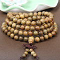 Original Handwork Natural Wood Green Sandalwood Beads Multilayer Bracelets for Women and Men 6mm 108 Buddha Bracelets & Bangle