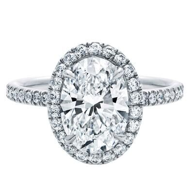 TR520 2 Carat Oval ring Synthetic Gem Engagement Ring Rings for women