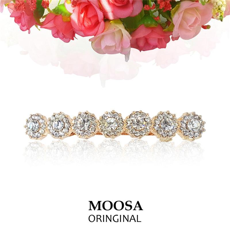 Shop2853081 Store MOOSA Fashion Design Sunshine Headdress Jewelry for Wedding Bridal Rhinestone Barrettes Hairwear Gift