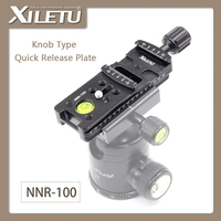XIELTU NNR-100 Wydłużają Uchwytu Montażowego Kamery Quick Release Plate Dla Aparatu Cyfrowego Arca Swiss Statyw Ball Szef