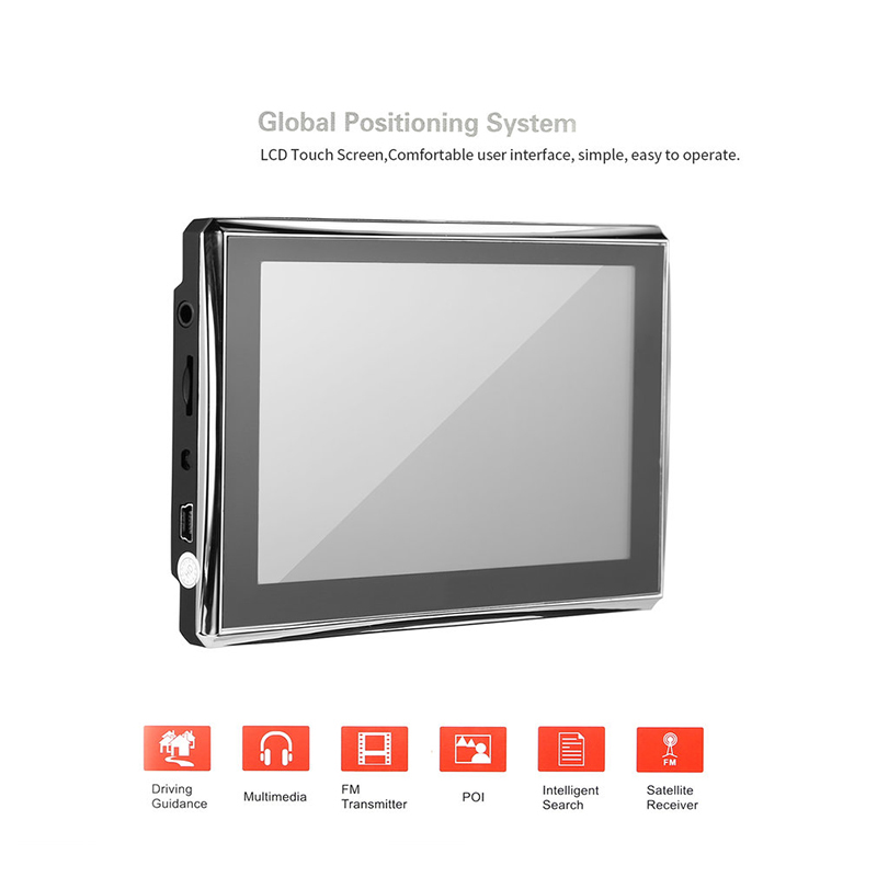 LESHP LCD Display Touch Screen Accurate Position Black HD Car GPS Navigation Map for Safe driving Accurate Position lq065t9br51u lq065t9br52u lq065t9br53u lq065t9br54u lq065t9br55u lcd screen display for car gps car lcd