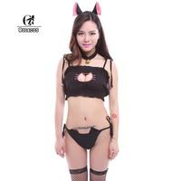 Anime Love Live Cosplay Sleepwear Tojo Nozomi Adult Women Cat Embroidary Sexy Maid Lingerie Underwear Traje