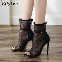 Eilyken 2019 New Sexy Women Boots Sandals Thin High Heels Gl