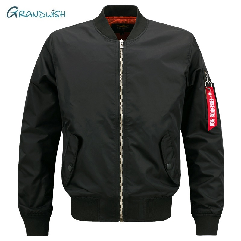 Grandwish New Brand Mens Casual Jacket Large Size Men Pilot Bomber Jacket Male Big Size S- 7XL 8XL Overcoat Drop Shipping, DA908(China)