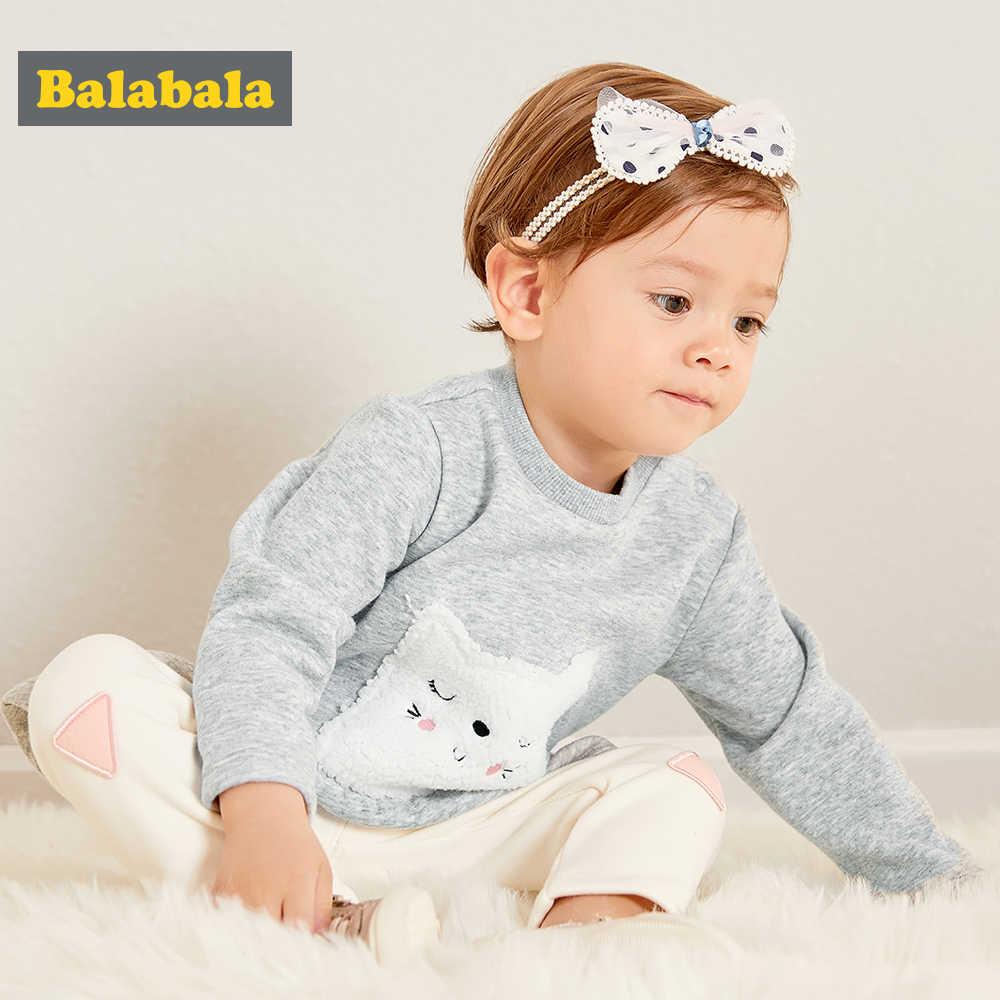 Balabala 2018 automne hiver enfants nouveau-né bébé garçon vêtements enfants à capuche + pantalon vêtements pour fille tenues infantile vêtements ensemble