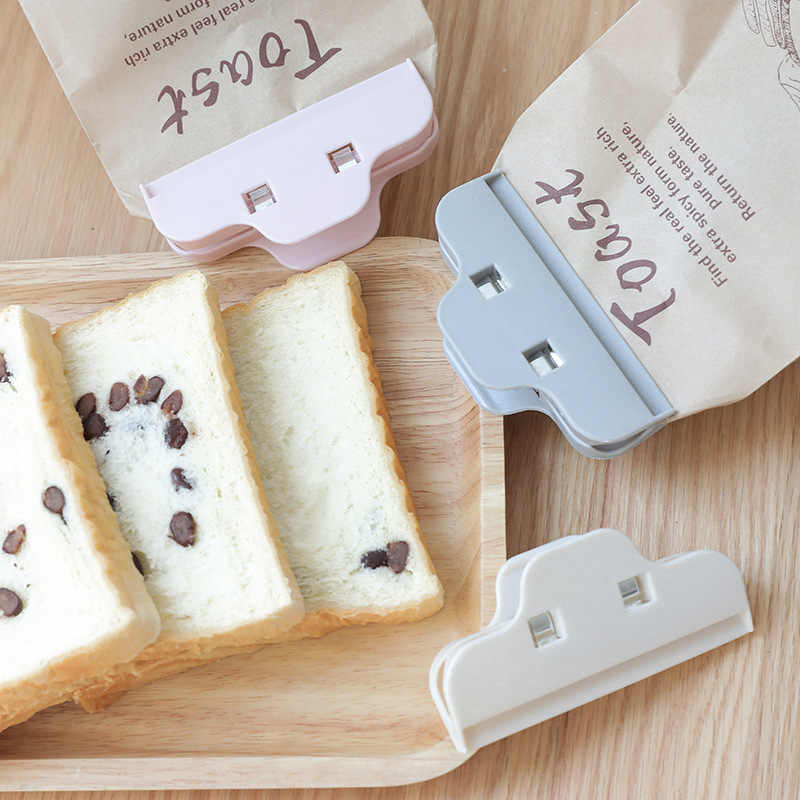 2 pcs/set Kitchen Food Storage Bag Sealer Home Clothespin Office Paper Files Clips Plastic Sealer Clamp Snack Seal Pocket Holder