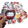 TD ZW 40 Pieces/set Fashion Sticker Pvc Bad Joke Style Waterproof Stickers For Car Laptop Bicycle Luggage Skateboard Phone Decal