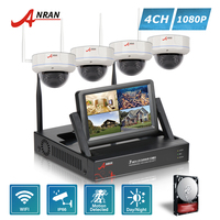 ANRAN Plug And Play P2P LCD 4CH NVR 1080P Outdoor 30 IR Day Night 2 0MP