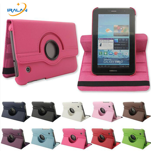 """2017 new 360 Rotating Folio PU Leather Case Cover for Samsung Galaxy Tab 2 7 """"GT-P3100 P3110 P3113 tablet +stylus free delivery"""