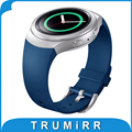 1:1 como original correa de caucho de silicona para samsung gear s2 (sm-r720) smart watch banda de reemplazo correa de pulsera deportivo