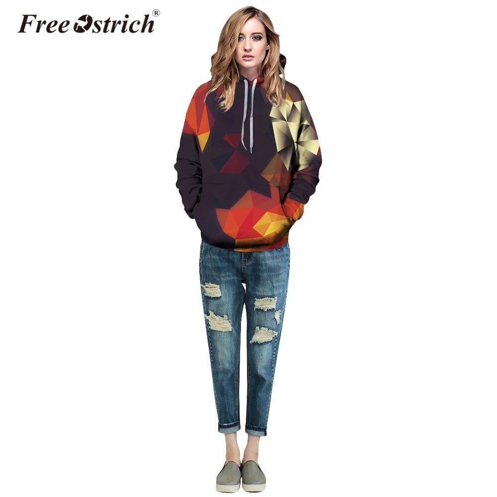 Free Ostrich Hoodies Sweatshirt 3D Autumn Spring Men Women Blocks Pullovers Casual Long Sleeve Harajuku Sudadera Mujer A0835