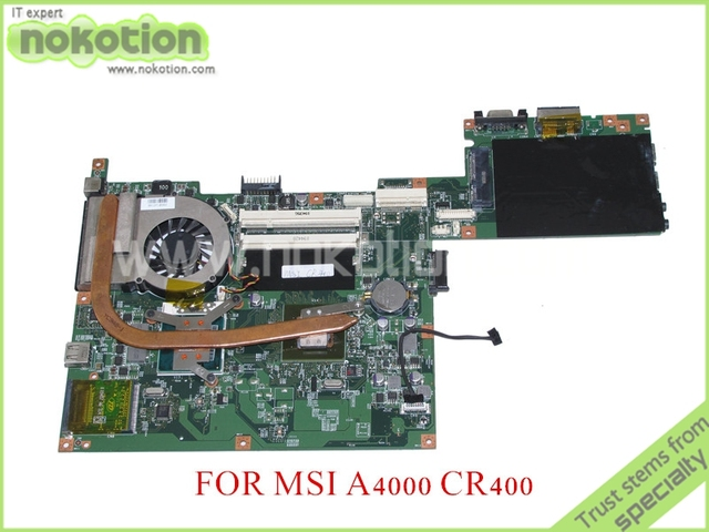 Ms-14511 VER 1.2 para MSI CR400 A4000 CR-400X Laptop motherboard DDR2 gráfica Nvidia