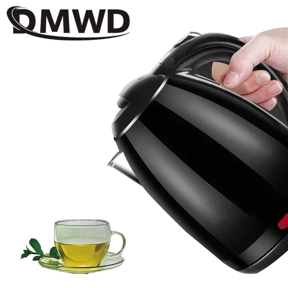 все цены на DMWD Stainless Steel Electric Kettle 2L Household Quick Heating Hot Water Boil Kettles Auto Power-off Tea Boiler Teapot EU plug онлайн