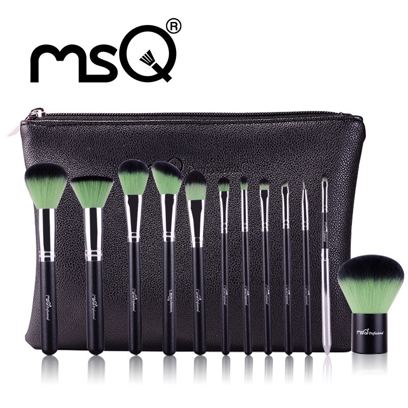 MSQ 12pcs Eyeshadow Makeup Brushes Set Pro Foundation Blending Make Up Brush Soft Synthetic Hair For Beauty with Cosmetic Pouch huamianli pro beauty makeup brush set soft cosmetic foundation brushes tools 32pcs set