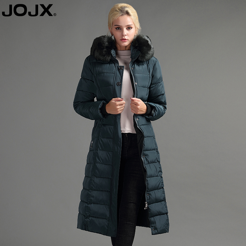 JOJX 2017 New Thickening Warm Women Winter Jacket Hooded Slim Parka Fur Collar Coat Long Winter Down Jacket plus size Clothing hot new 2014 winter clothing women fashion fur collar hooded lace patchwork elegant slim plus size zipper long down coat wj1883