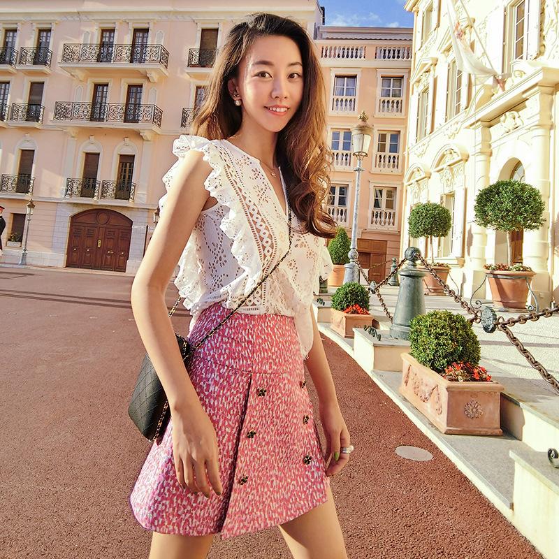 HTB1nMAFSFXXXXcgXFXXq6xXFXXXB - Lady V Neck Ruffle Crochet Blouse Shirt Sexy Top JKP068