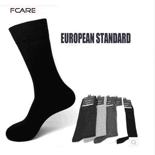 Fcare 10 PCS = 5 pares de 39 a 44 calzini lunghi uomo homens se vestem meias de negócios meias longas pernas meias calcetines