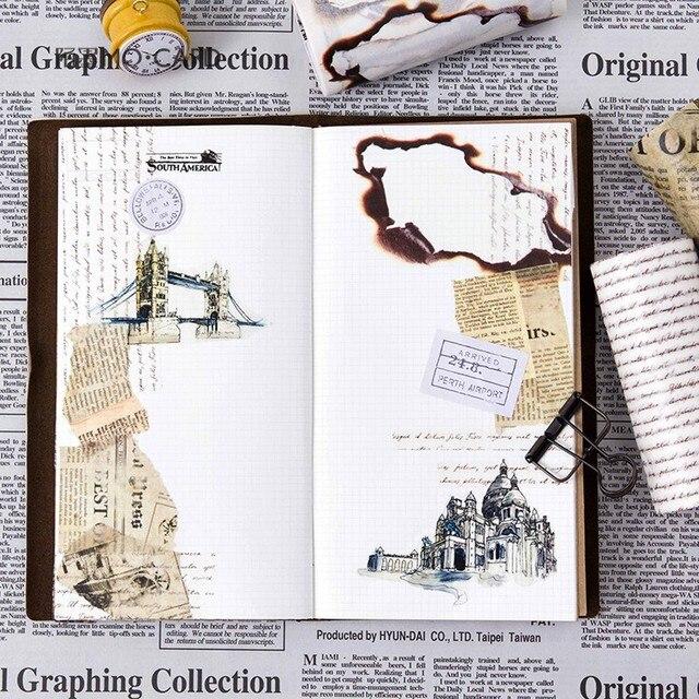 10 cm Large Rétro Vintage Décoratif Masquage Bande Vieux Brûlé Journal Washi Tepe Pour Journal Planificateur Portable Diy Accessoires