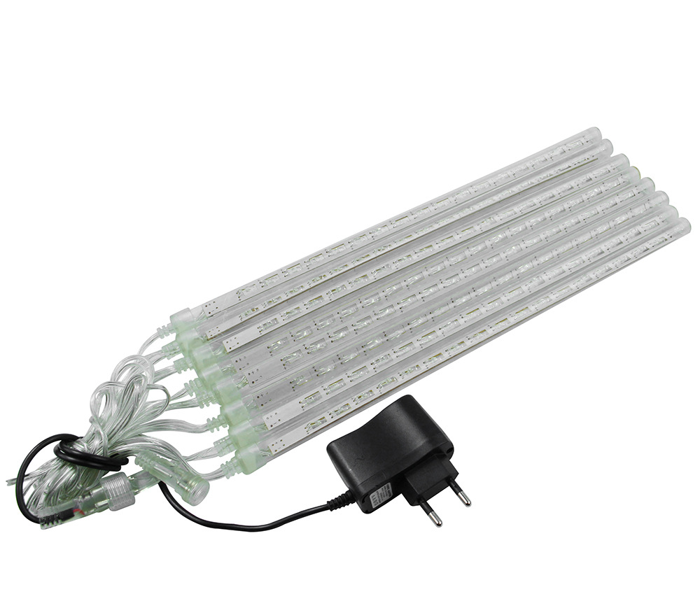 Waterproof LED Meteor Shower Rain Lights 20cm 30cm 8 Tubes 100-240V Icicle Snow Raindrop Outdoor Light with EU/US Power Adapter led meteor rain 8 tube light white eu plug ac 100 240v
